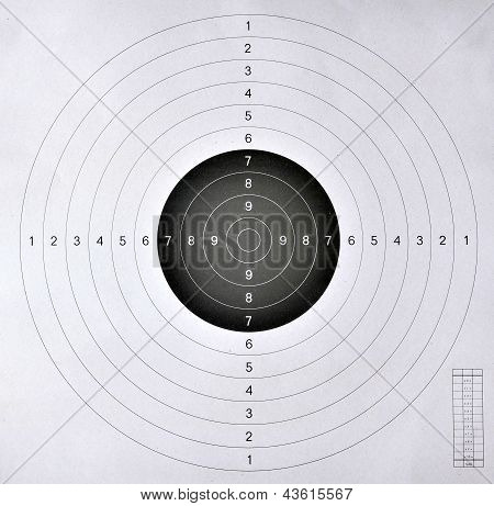 Blank Target  For Shooting Competition