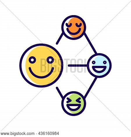 Networking Talent Rgb Color Icon. Build Relationship Ability. Communication And Cooperation Aptitude
