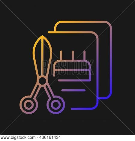 Talent For Crafts Gradient Vector Icon For Dark Theme. Tools For Handicraft. Craftsmanship Art. Deco