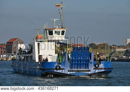 Klaipeda, Lithuania - October 02: Passenger Ferry At October 02, 2021 In Klaipeda, Lithuania