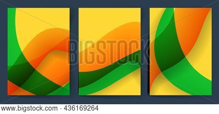 Bright Gradient Background With Place For Text. Vector Illustration.