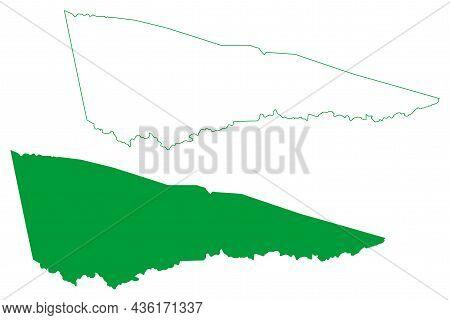 Caem Municipality (bahia State, Municipalities Of Brazil, Federative Republic Of Brazil) Map Vector