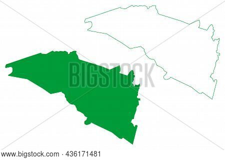Mirangaba Municipality (bahia State, Municipalities Of Brazil, Federative Republic Of Brazil) Map Ve