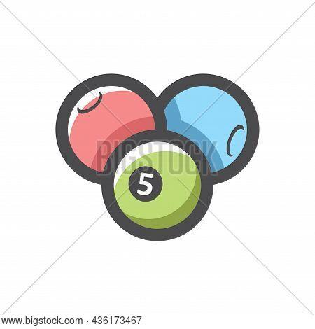 Set Of Lottery Balls Vector Icon Cartoon Illustration
