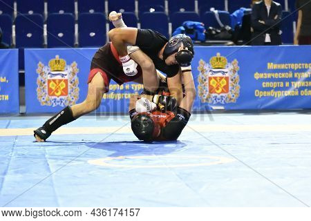 Orenburg, Russia - October 5, 2019: Men Compete In Pankration Wrestling