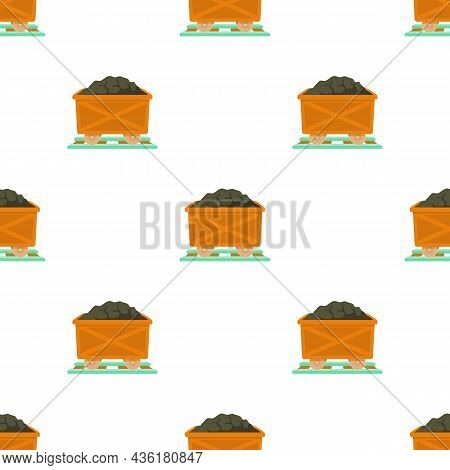 Coal Pattern Seamless Background Texture Repeat Wallpaper Geometric Vector