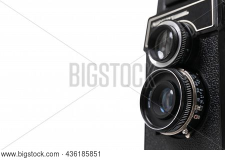 Stylish Vintage Camera With Two Photo Lenses