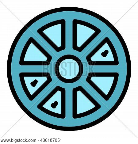 Wheel Cipher Icon. Outline Wheel Cipher Vector Icon Color Flat Isolated