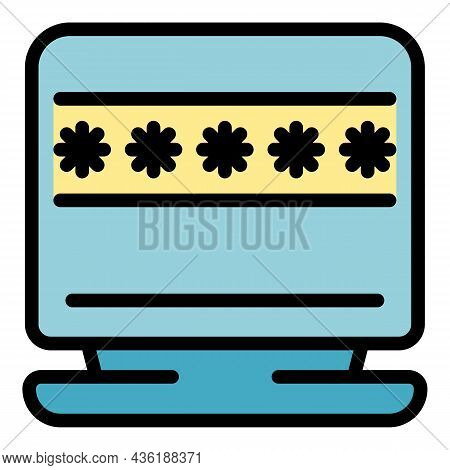 Customize Password Icon. Outline Customize Password Vector Icon Color Flat Isolated