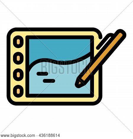 Ergonomic Device Icon. Outline Ergonomic Device Vector Icon Color Flat Isolated