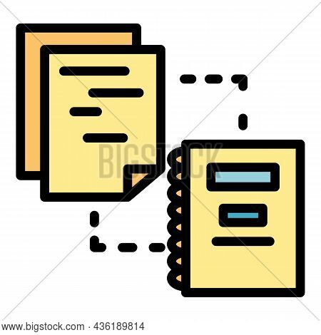 Organized Documents Icon. Outline Organized Documents Vector Icon Color Flat Isolated