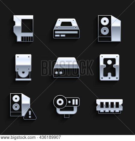 Set Server, Data, Web Hosting, Camera, Ram, Random Access Memory, Hard Disk Drive Hdd, Case Of Compu