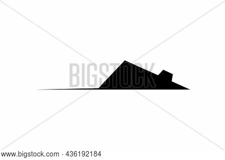 Rat Or Mouse Black Graphic Silhouette Symbol. Vector Icon Isolated On White Background