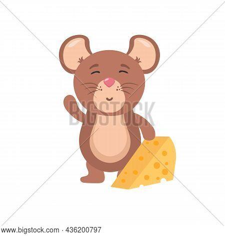 Set Cute Mice Character, Mouse Cartoon Animal.