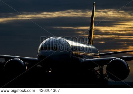Frankfurt, Germany - July 9, 2018: Fedex Cargo Plane At Airport. Air Freight. Aviation And Aircraft.
