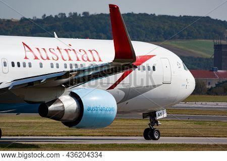 Vienna, Austria - September 24, 2011: Austrian Airlines Passenger Plane At Airport. Schedule Flight