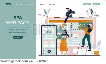 Spa Web Page. Girls Develop Concept For Site Design. Freelance Work, Employees. Landing Page, Develo