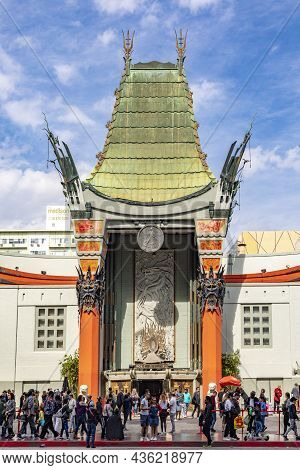 Los Angeles, Usa - March 5, 2019:  Tcl Chinese Theater Located On Hollywood Boulevard. The Theater D