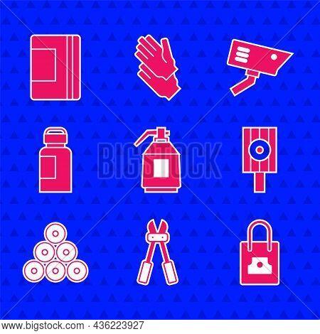 Set Paint Spray Gun, Bolt Cutter, Spray Can Nozzle Cap, Paint, Gouache, Jar, Dye, Security Camera An