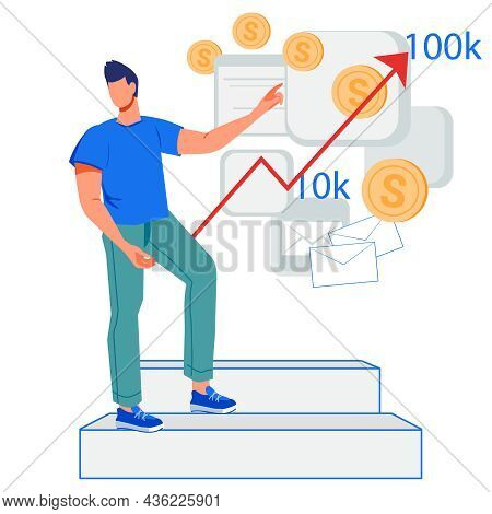 Business And Finance Growth, Increasing Income And Revenue Of Investments.