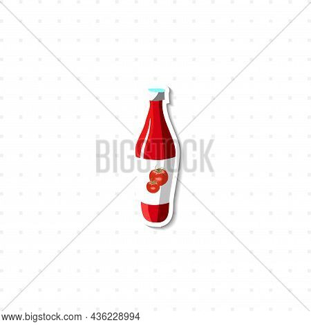 Ketchup Vector Isolated Illustration On White Background