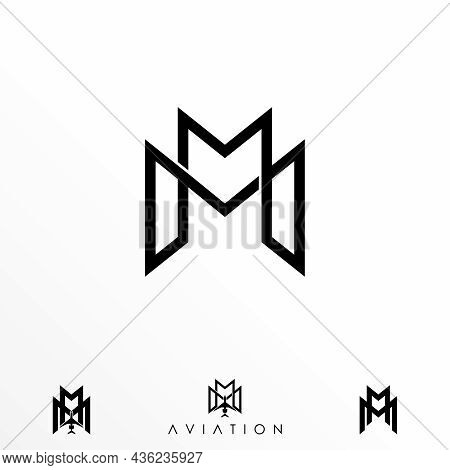 Letter Mm Logo Free Vector Stock. Merger Abstract Design Concept. Can Be Used As A Symbol Related To