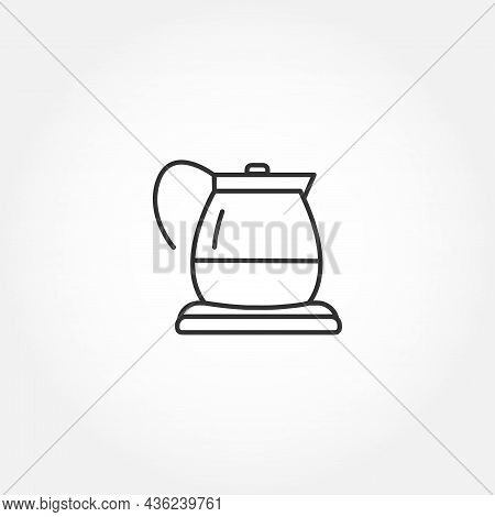 Electric Kettle Line Icon. Electric Kettle Isolated Line Icon