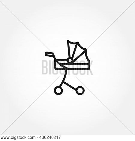 Baby Carriage Line Icon. Baby Carriage Isolated Line Icon