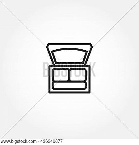 Eye Shadow Kit Line Icon. Eye Shadow Isolated Line Icon