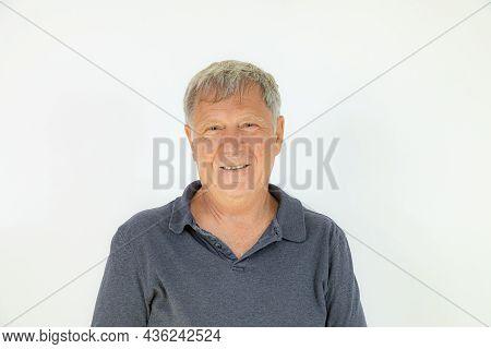 Portrait Of Happy Handsome Caucasian Mature Man