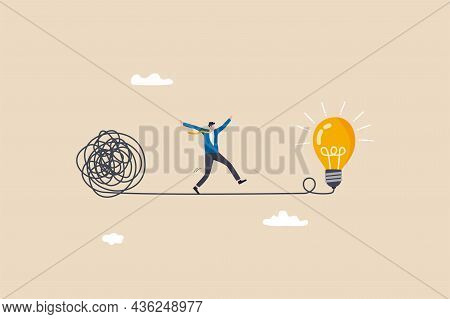 Simplify Idea To Find Solution, Thinking Process Or Creativity To Solve Problem, Discover Easy Way T