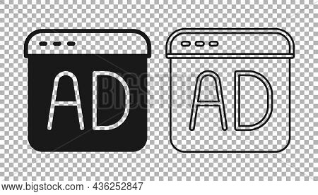 Black Advertising Icon Isolated On Transparent Background. Concept Of Marketing And Promotion Proces