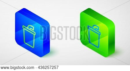Isometric Line Paper Glass With Drinking Straw And Water Icon Isolated Grey Background. Soda Drink G