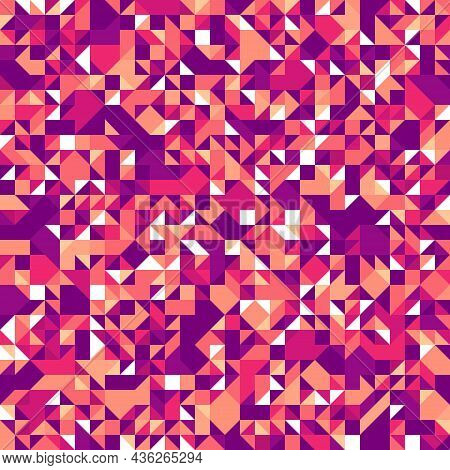 Chaotic Abstract Mosaic Vector Seamless Background, Geometric Tiling Pattern, Interior Design Elemen