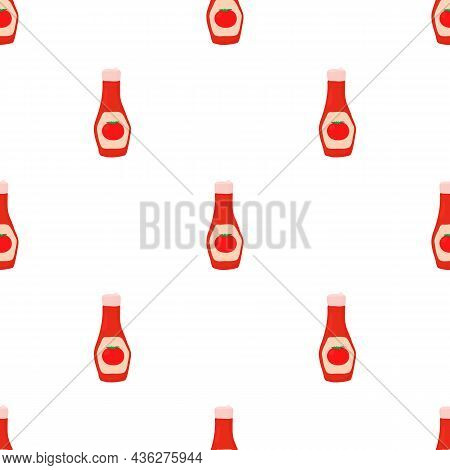 Ketchup Pattern Seamless Background Texture Repeat Wallpaper Geometric Vector