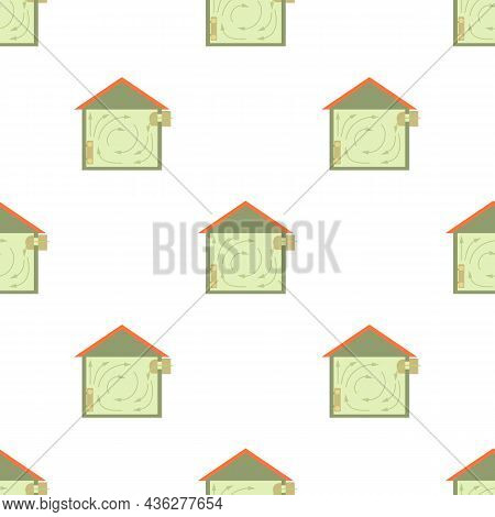 Ventilated Home Pattern Seamless Background Texture Repeat Wallpaper Geometric Vector