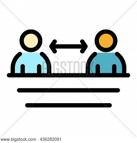 Keep Safe Distance Icon. Outline Keep Safe Distance Vector Icon Color Flat Isolated