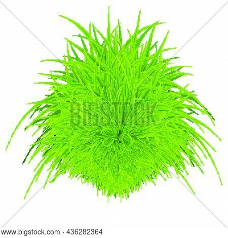 Green Grass Element As A Natural Symbol Of Ecology And Clean Energy Icon. Eco-friendly Styled Elemen