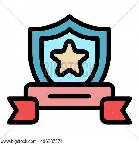 Winner Award Icon. Outline Winner Award Vector Icon Color Flat Isolated