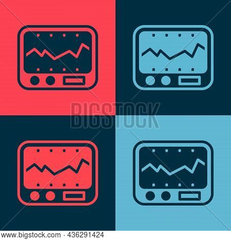 Pop Art Electrical Measuring Instrument Icon Isolated On Color Background. Analog Devices. Measuring