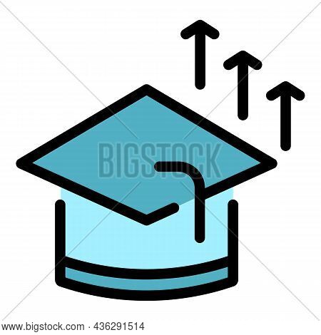 Student Career Icon. Outline Student Career Vector Icon Color Flat Isolated