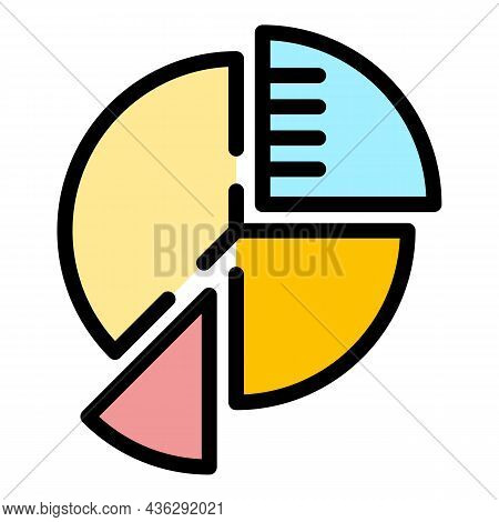 Career Pie Icon. Outline Career Pie Vector Icon Color Flat Isolated