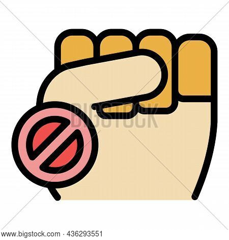 Democracy Fist Icon. Outline Democracy Fist Vector Icon Color Flat Isolated