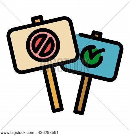 Democracy Protest Icon. Outline Democracy Protest Vector Icon Color Flat Isolated