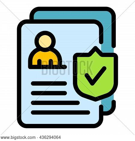 Online Medical Form Icon. Outline Online Medical Form Vector Icon Thin Line Color Flat On White