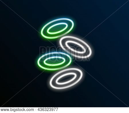 Glowing Neon Line Medical Hemoglobin Erythrocytes Icon Isolated On Black Background. Colorful Outlin