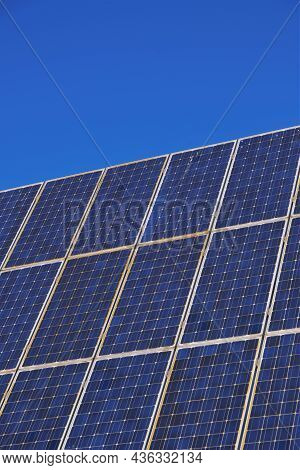 Solar Panels.solar Energy. Renewable Energy. Alternative Renewable Energy From Nature