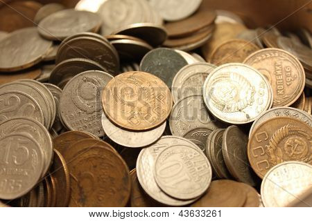 old coins from different periods