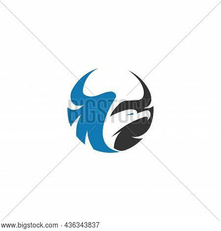 Eagle Flying Template Illustration Mascot Emblem Isolated
