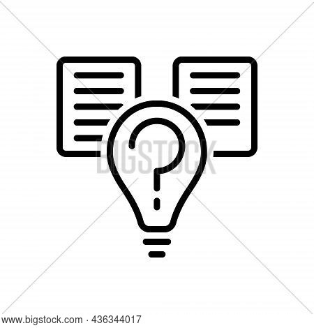 Black Line Icon For Hypothesis Guess Assumption Idea Thought  Spec Imagery Chimera Scientific